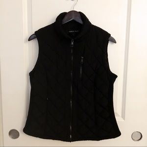 Black quilted vest jacket